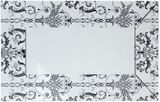 Venetian Mirror With Black Pattern 1300x750mm