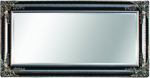 Silver Framed Mirrors: Antique Silver/Black Ornate Mirror 2170x1170mm