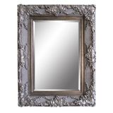 Ornate Antique Silver Framed Mirror (two sizes)