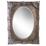 Antique Silver Ornate Oval Mirror 1130x825mm
