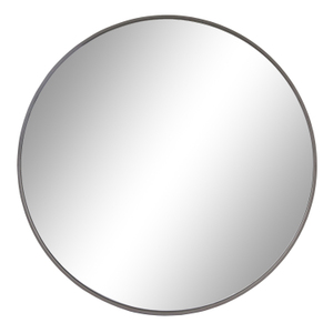 Other Framed Mirrors: Round Mirror With Thin Dark Grey Frame (2 sizes)
