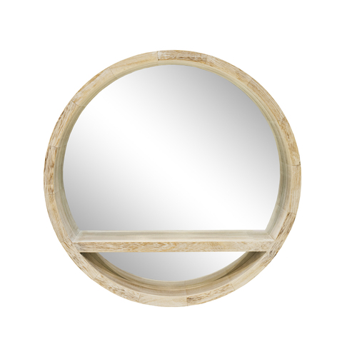 round wooden mirror shelf 500mm dia mainly mirrors. Black Bedroom Furniture Sets. Home Design Ideas