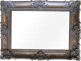 Ornate Antique Warm Silver Framed Mirror 1200x900mm
