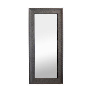 Metal Framed Mirrors: Large Taupe Metal Framed Mirror 1870x840mm