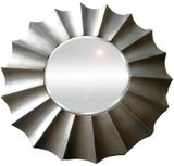 Round Silver Wave Mirror 780mm dia