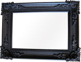 Black Ornate Framed Mirror 2080x1050mm