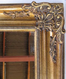 Traditional Dress Mirrors: Large Gold Ornate Dress Mirror 2000x1000mm
