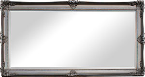 Silver Framed Mirrors: Large Silver Framed Ornate Mirror 2000x1000mm