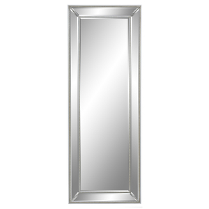 Dress Mirrors With Mirror Frames: Silver Beaded Bevelled Dress Mirror 580x1580mm