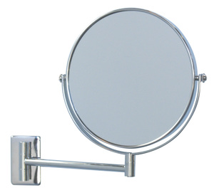 Magnifying Mirrors: Wall Fix Chrome Arm