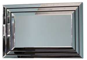 Mirrors With Mirror Frames: Triple Panel Inclined Mirror 1200x800mm