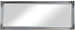 Traditional Dress Mirrors: Large Classic Silver Ornate Mirror 1935x735mm
