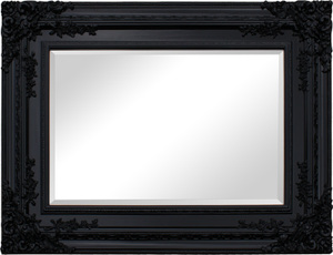 Other Framed Mirrors: Large Black Ornate Mirror (2 sizes)