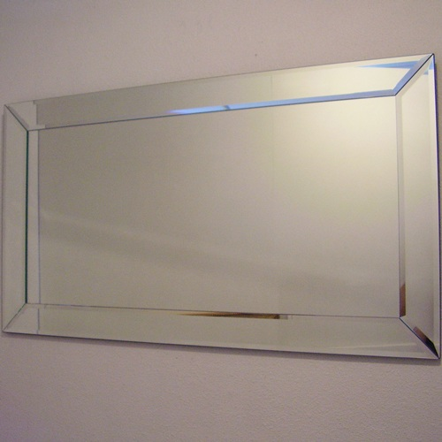 Flat Bevelled Mirror With Mitred Corners 3 Sizes