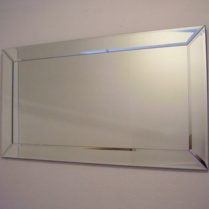 Mirrors With Mirror Frames: Flat Bevelled Mirror With Mitred Corners (3 sizes)