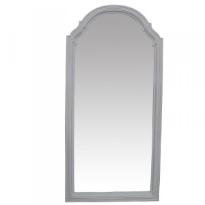 Traditional Dress Mirrors: Large Arch Top Antique White Dress Mirror 900x1900mm