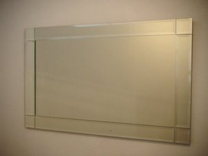 Mirrors With Mirror Frames: Bevelled Mirror Squares Corners 1200x800mm