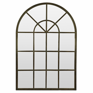 Metal Framed Mirrors: Arch Top Metal Window Mirror (2 sizes)
