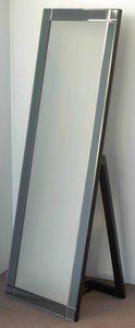 Freestanding Dress Mirrors: Bevelled Mirror With Grey Tinted Mirror Frame 600x1600mm