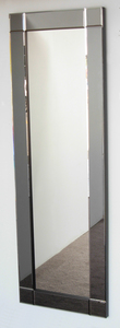Dress Mirrors With Mirror Frames: Dress Mirror With Grey Tint Mirror Frame 600x1600mm