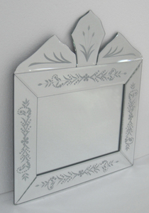 Small Mirrors: Small Crowned Venetian Mirror 400x450mm