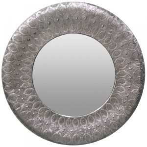 Metal Framed Mirrors: Round Morrocan Mirror 880mm dia (2 colours)
