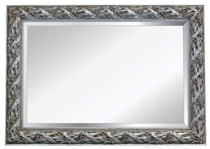 Silver Framed Mirrors: Ornate Silver Leaf Mirror (4 sizes)