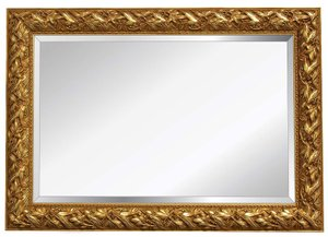 Gold Framed Mirrors: Gold Leaf Design Mirror (4 sizes)