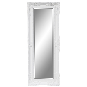 Traditional Dress Mirrors: White Ornate Dress Mirror 625x1625mm