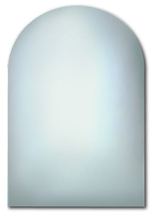 Polished Edge Mirrors: Arch Top Flat Polished Mirror 600x800mm