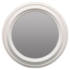 Other Framed Mirrors: Large Round Light Grey Mirror 1100mm dia