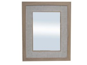CRAZY 75% OFF (click on item to see special price) ONE OF EACH ITEM ONLY: Wood & White Marble Tile Mirror 1090x890mm