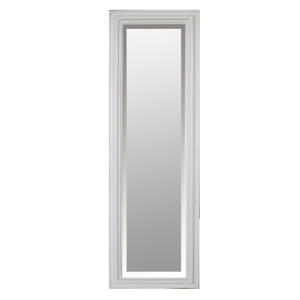 Freestanding Dress Mirrors: White Gloss Moulded Frame Dress Mirror 430x1480mm