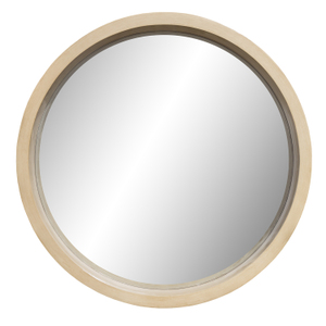 Round Wood Effect Mirror 910mm Mainly Mirrors