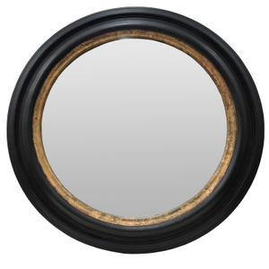 Other Framed Mirrors: Large Black/Gold Round Mirror 1100mm dia