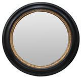 Large Black/Gold Round Mirror 1100mm dia