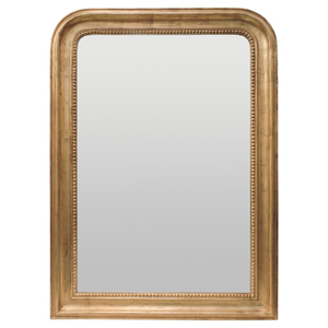 Gold Framed Mirrors: Gold Bead Arch Top Mirror 760x1060mm