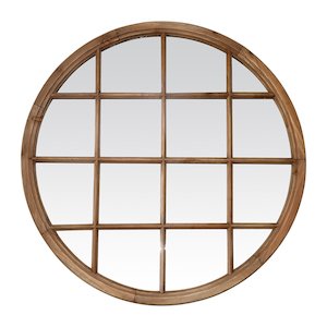 Wooden Framed Mirrors: Round Window Mirror 1200mm dia (3 colours)