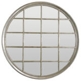Large Round Silver Window Mirror 1200mm dia