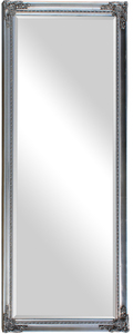 Traditional Dress Mirrors: Large Silver Ornate Dress Mirror 735x1935mm