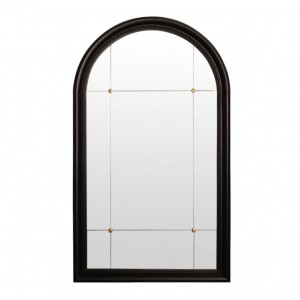 Other Framed Mirrors: Black Round Top Mirror 800x1350mm
