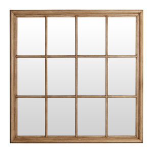 Wooden Framed Mirrors: Square Wood Window Mirror 1200x1200mm