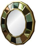 Multi Colour Panel Round Mirror 800mm