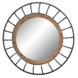 Round Wood/Metal Mirror 800mm dia