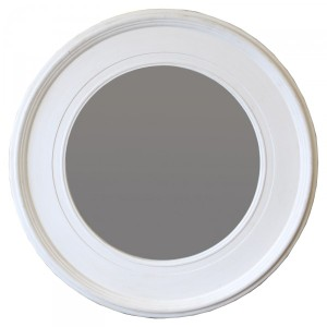 Other Framed Mirrors: Round Grey White mirror 940mm dia