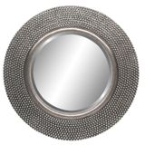 Round Silver Beaded Mirror 800mm dia