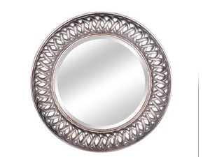 Silver Framed Mirrors: Round Antique Silver Mirror 1125mm dia