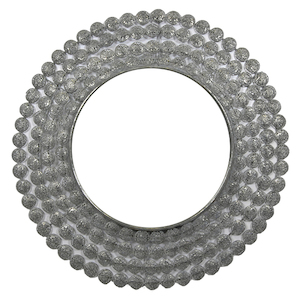 Metal Framed Mirrors: Round Silver or Gold Metal Round Mirror 1100mm dia