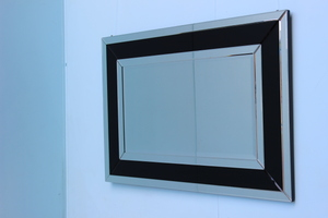 All Mirror Mirrors: Black Multi Panel Mirror 1200x800mm