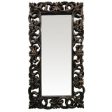 Black Ornate Dress Mirror 880x1780mm